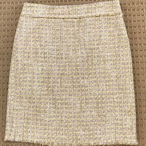 Ann Taylor Women's Fringed Tweed Pencil Skirt